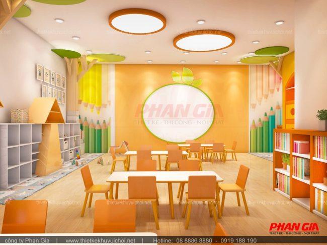 Thiết kế nội thất trường mầm non Canary - Quận 6