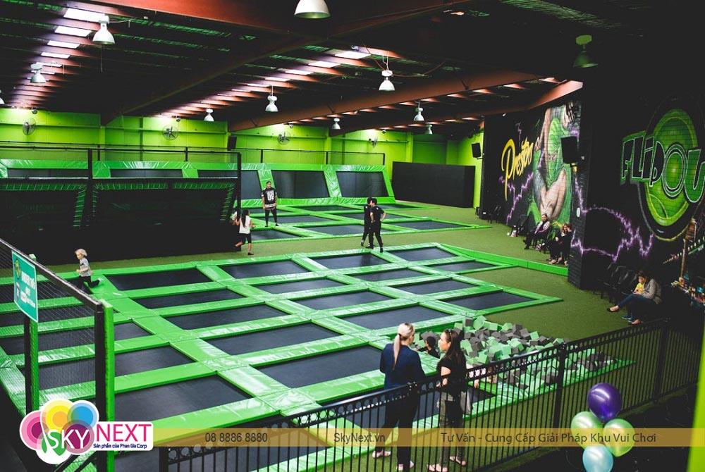 công viên bạc nhún trẻ em 1 | Bạt Nhún Jump Arena