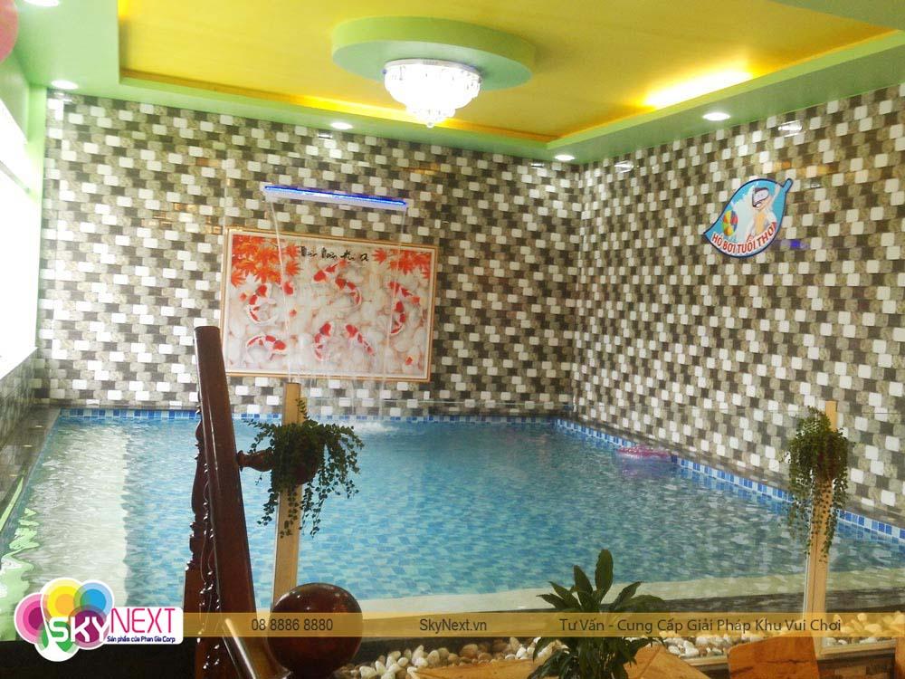 Hồ bơi mini Cho vé Vườn Hồng