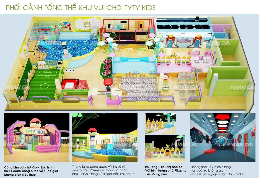 Hình 3D khu vui chơi trẻ em TYTY Kids Gia Lai