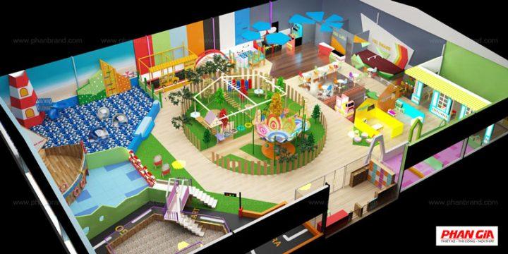 Hình 3D khu vui chơi Viki Town Củ Chi