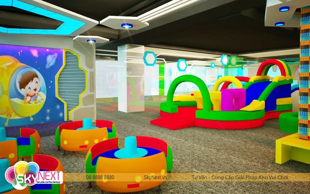 Góc khu vui chơi tiniworld Tân Bình quan phối cảnh 3D