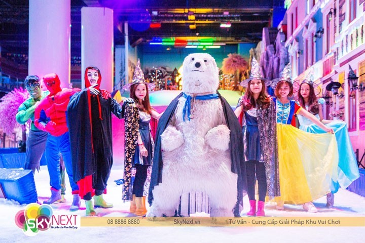 khu vui chơi Snow Town TP HCM