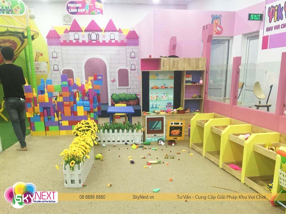 khu đồ chơi siêu thị nhà hàng cho bé hà tĩnh