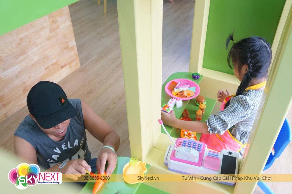 Khu đồ chơi siêu thị tại khu vui chơi tomato kids Hà Nội