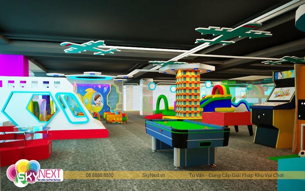 Khu game center trong khu vui chơi tiniworld Tân Bình