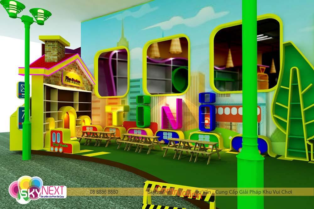 Khu mỹ thuật tô tượng cho trẻ em tại tiniworld quận 7