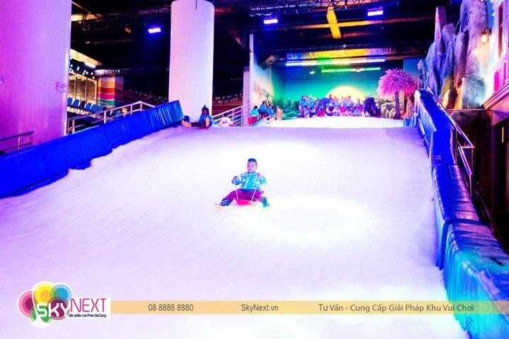 Khu trượt tuyết ở Snow Town Sài Gòn