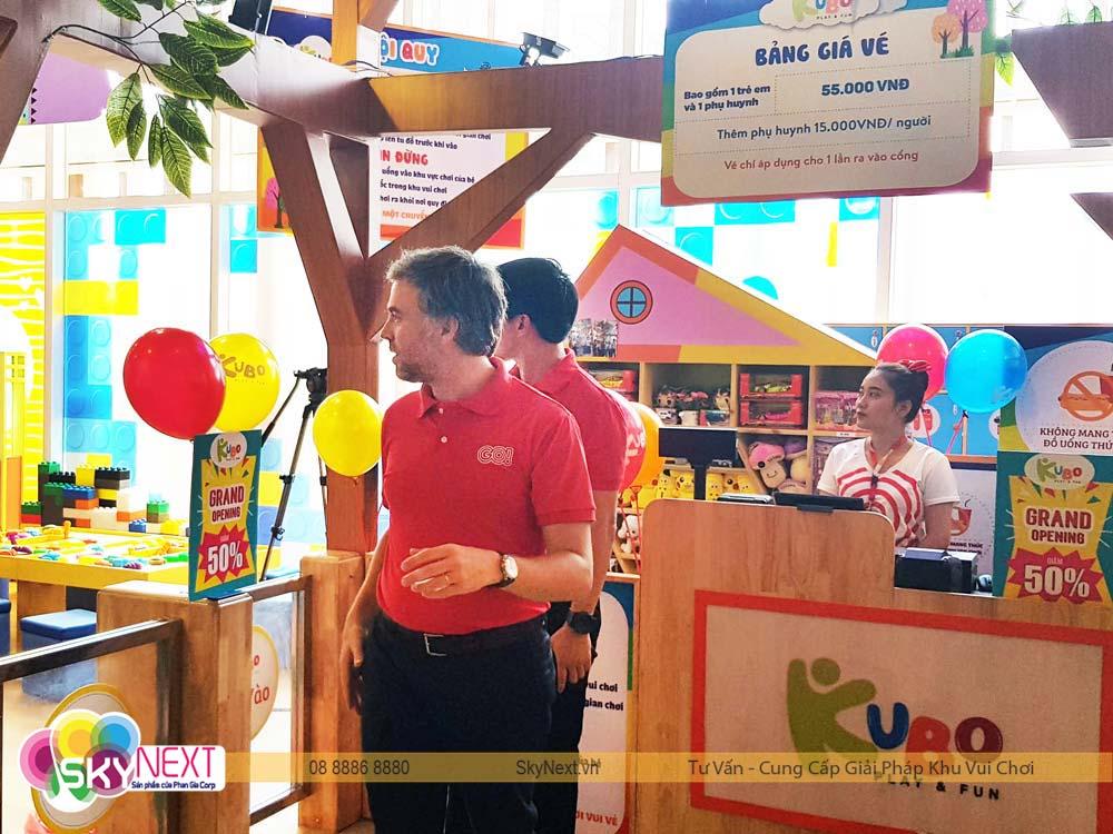 lãnh đạo TTTM Big C thăm khu vui chơi KUBO