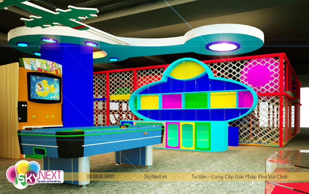 Phối cảnh 3D khu vui chơi tiniworld Tân Bình
