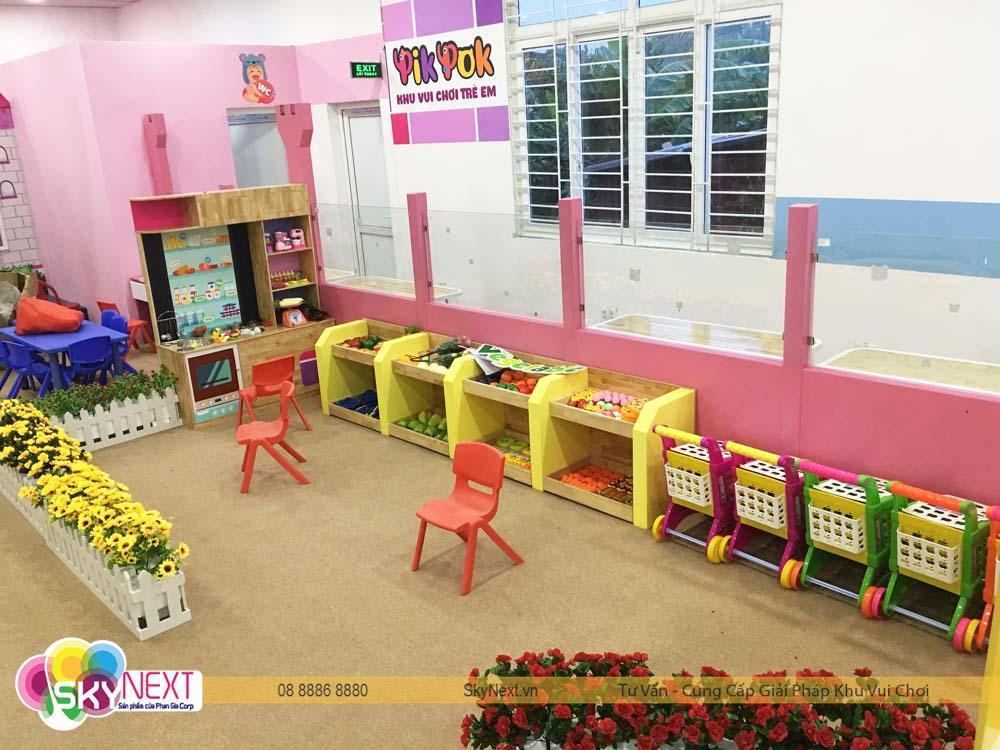 Quầy siêu thị trong khu vui chơi trẻ em PIT POK