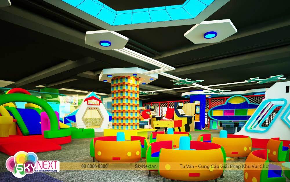 Toàn cảnh khu vui chơi TiniWorld Tân Bình cho trẻ em