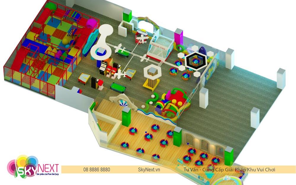 Tổng quát khu vui chơi trẻ em TiniWorld Tân Bình TP HCM