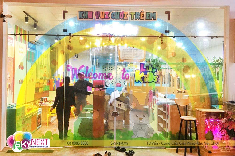 Cổng vào khu vui chơi Like Kids Khánh Hòa