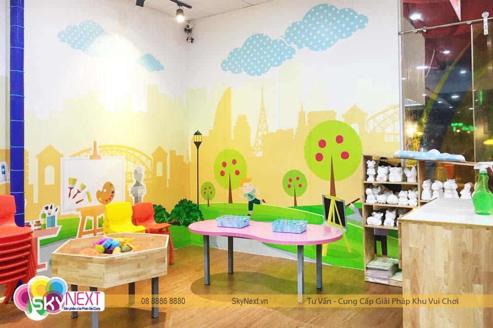 Góc nghệ thuật cho bé tại Khánh Hòa Like Kids