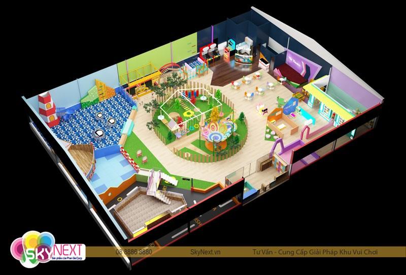 Hình ảnh thiết kế khu vui chơi Viki Town Củ Chi