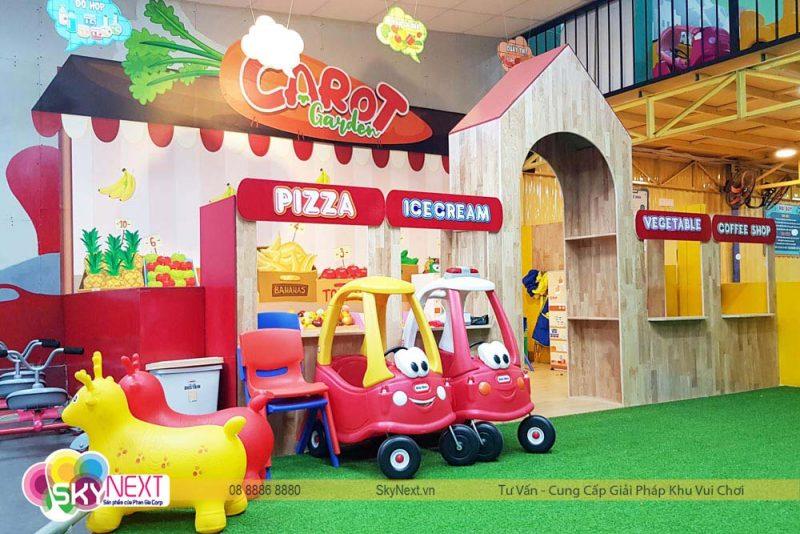 Khu nhà hàng siêu thị cho bé Carot ĐỒng Xoài