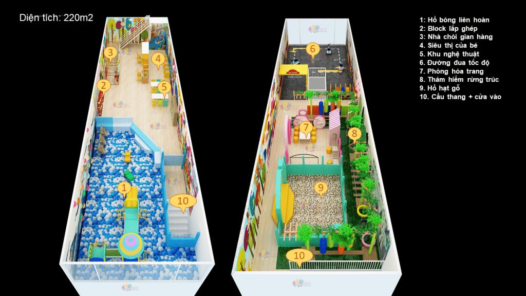 Phối cảnh 3D khu vui chơi Winpark