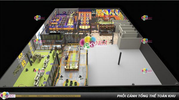 Khu vận động Trampoline Park cho thanh thiếu niên hình 1