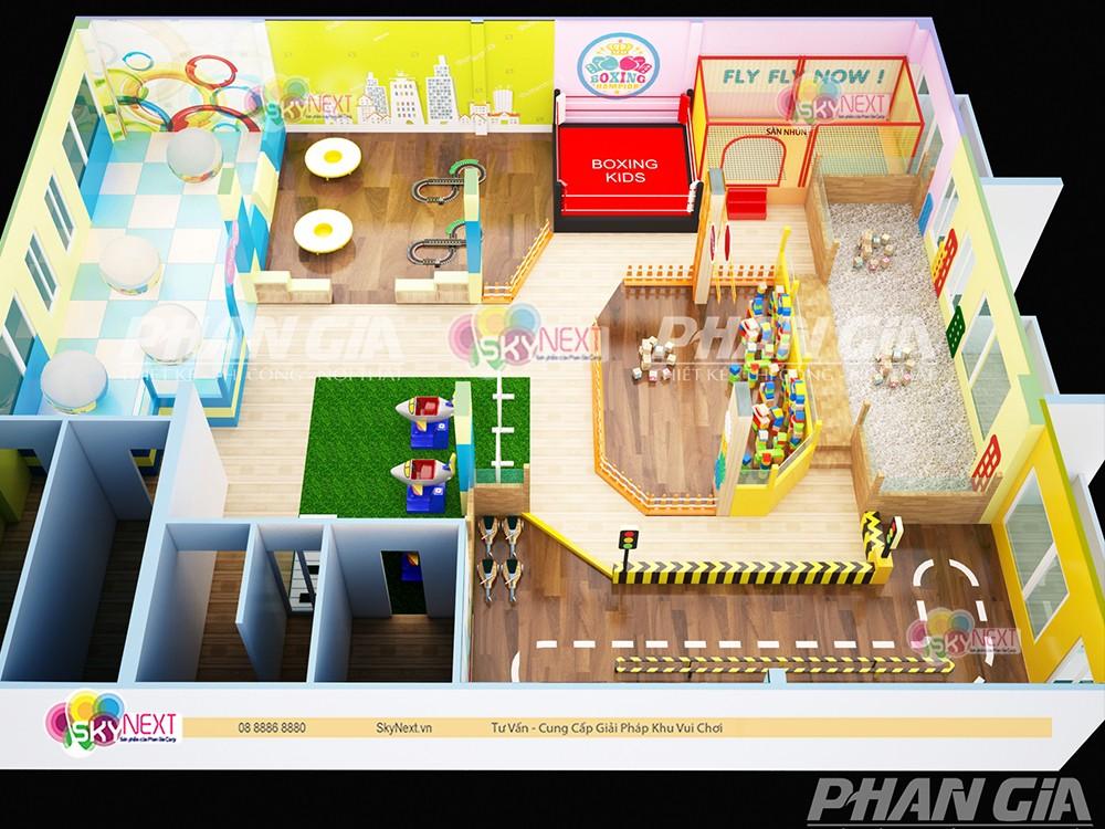 Mẫu thiết kế 3D khu vui chơi cho trẻ em ở Đồng Nai