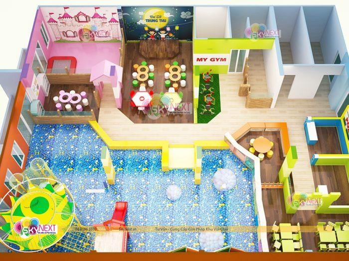 Phối cảnh 3D khu vui chơi cho trẻ em Papa4Me ở Đồng Nai