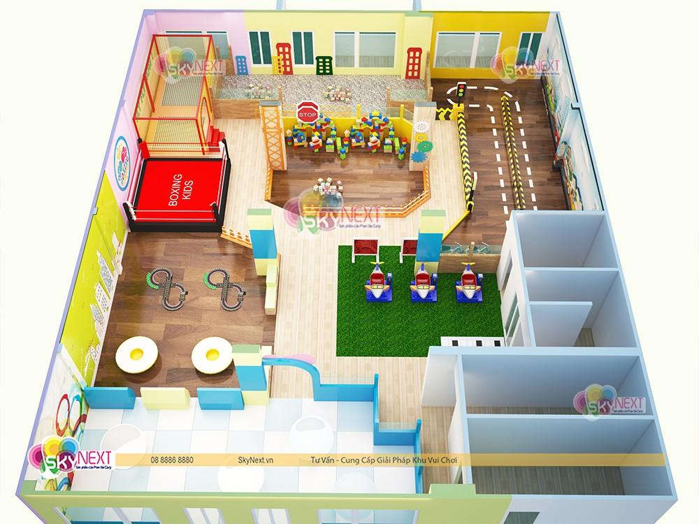 mô hình thiết kế 3D khu vui chơi Papa4me