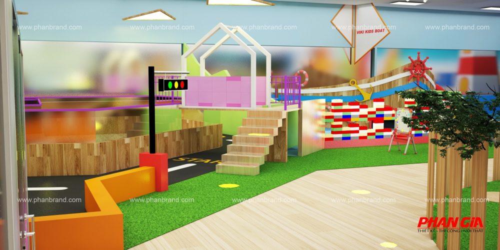 Mẫu thiết kế khu vui chơi trẻ em VikiTown Củ chi hình 7