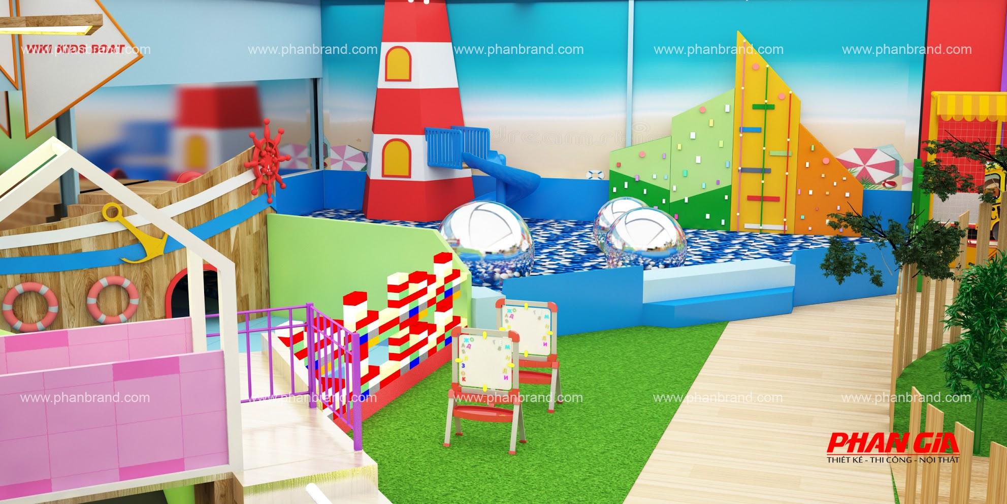 Mẫu thiết kế khu vui chơi trẻ em VikiTown Củ chi hình 6