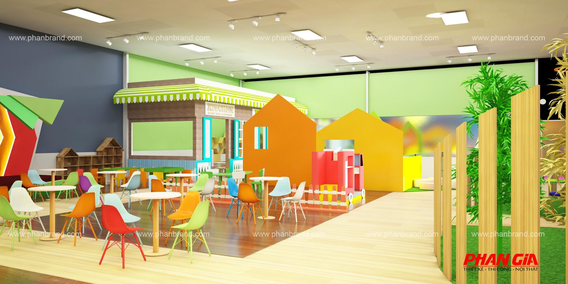 Mẫu thiết kế khu vui chơi trẻ em VikiTown Củ chi hình 2