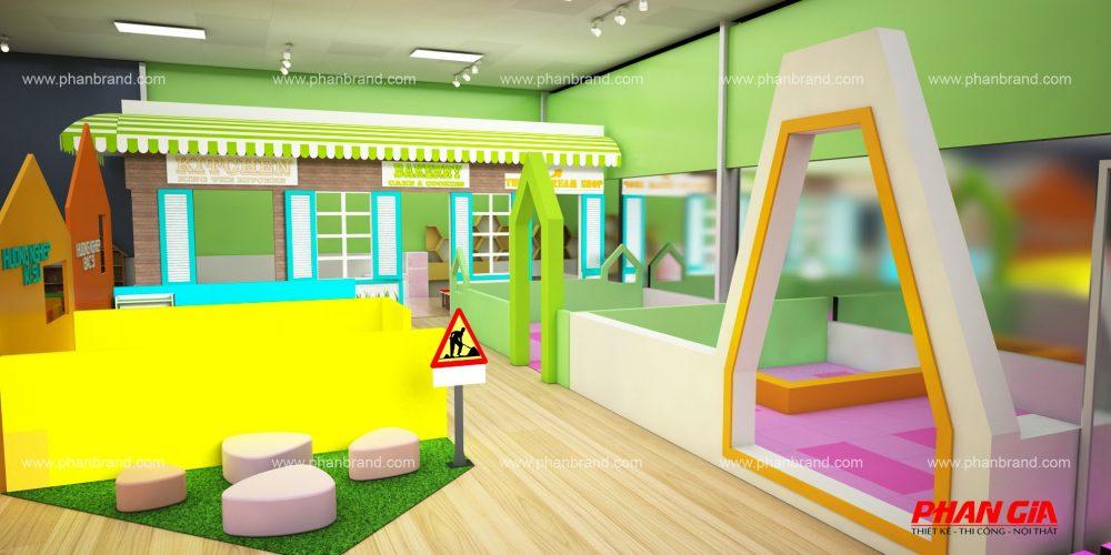 Mẫu thiết kế khu vui chơi trẻ em VikiTown Củ chi hình 1