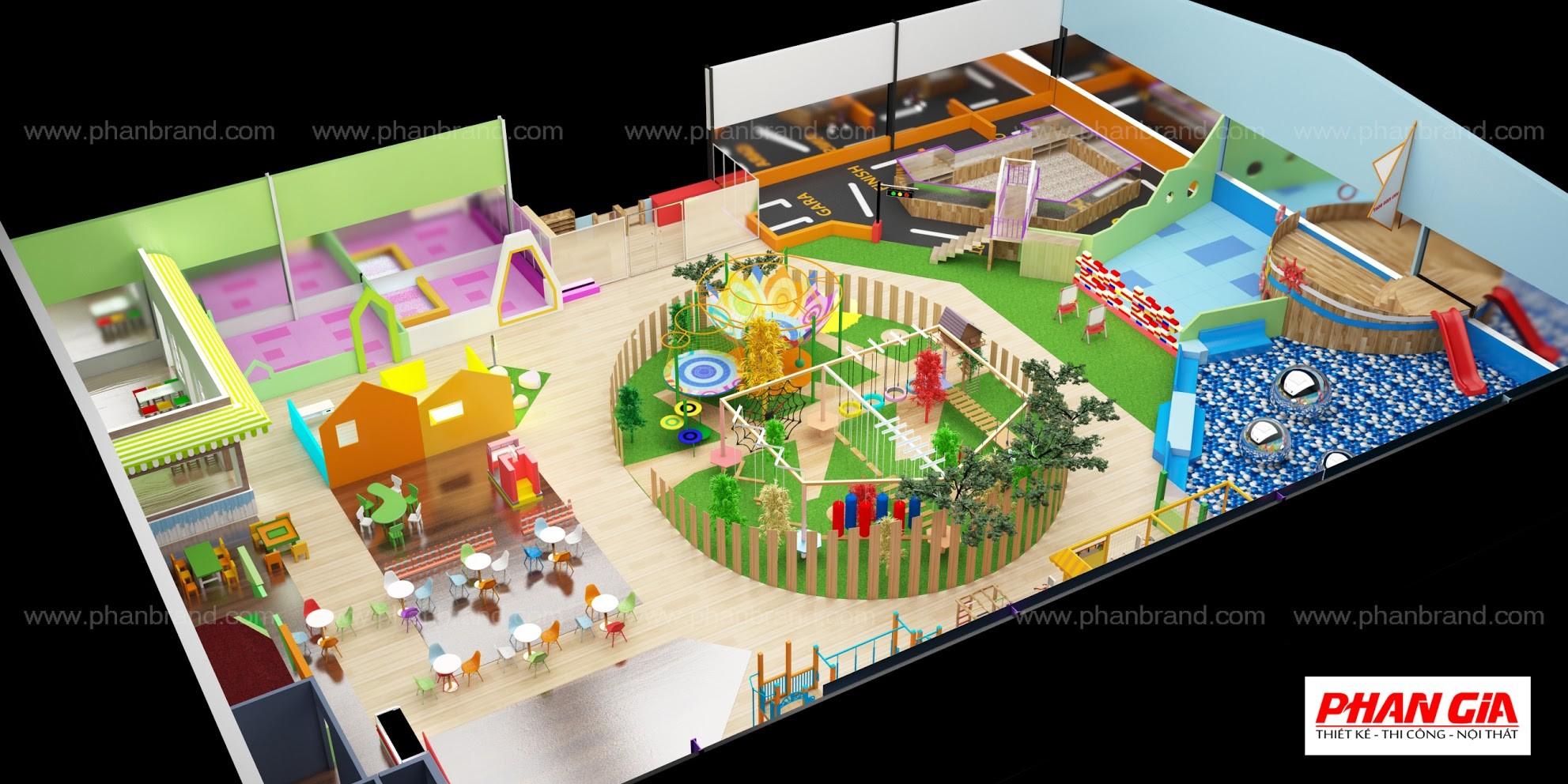 Mẫu thiết kế khu vui chơi trẻ em VikiTown Củ chi