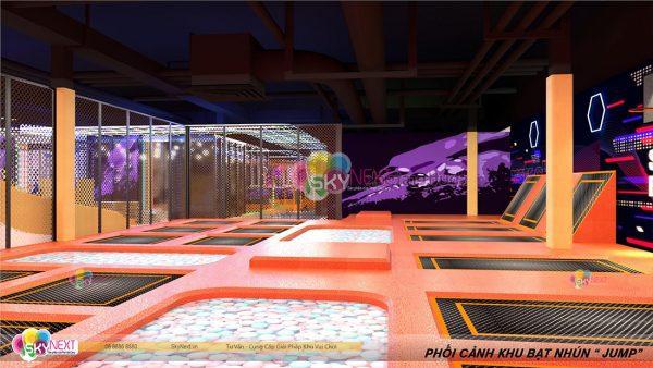 Khu sàn nhún Trampoline