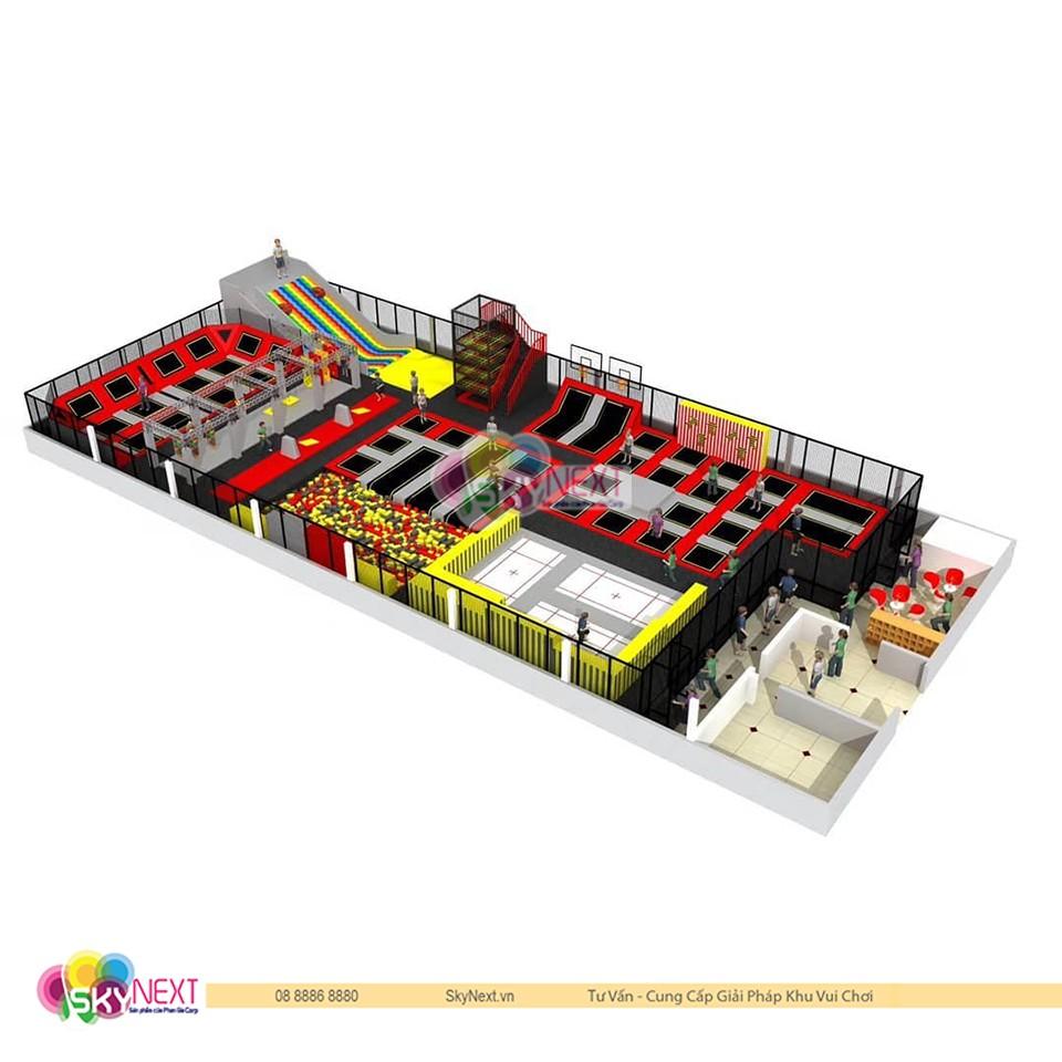 Thiết kế khu vui chơi Trampoline Huế