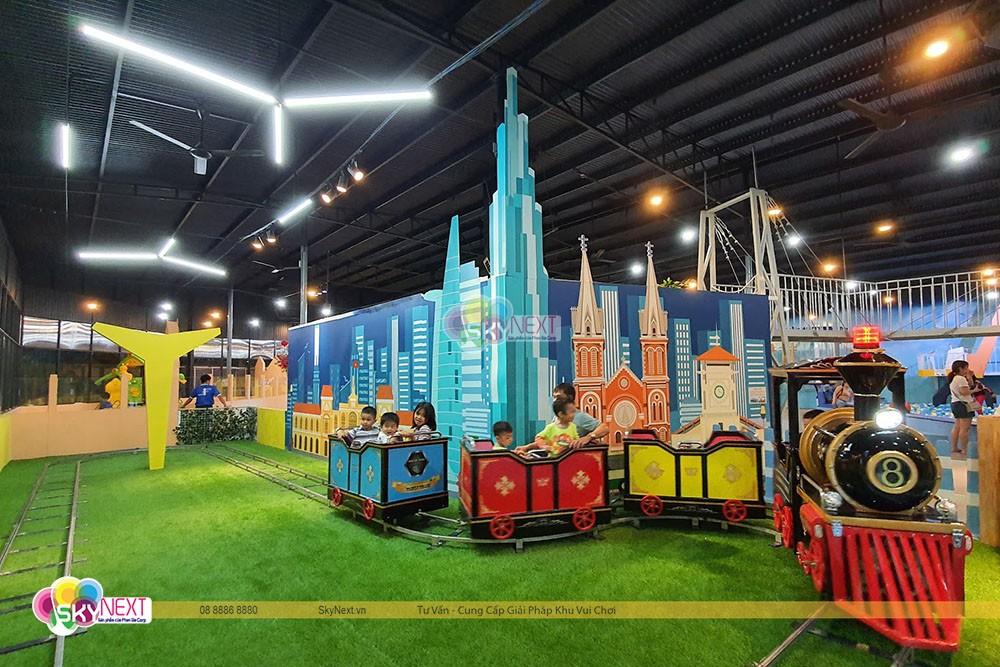 Bộ tàu lửa trẻ em ở SkyKids Long Khánh