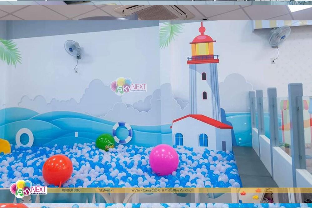 Hồ bóng khổng lồ trong khu giải trí cho trẻ em