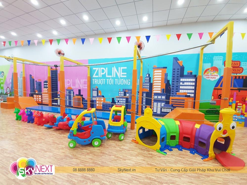 Đường trượt Zipline khu vui chơi Hoàng Phúc Kids Cafe