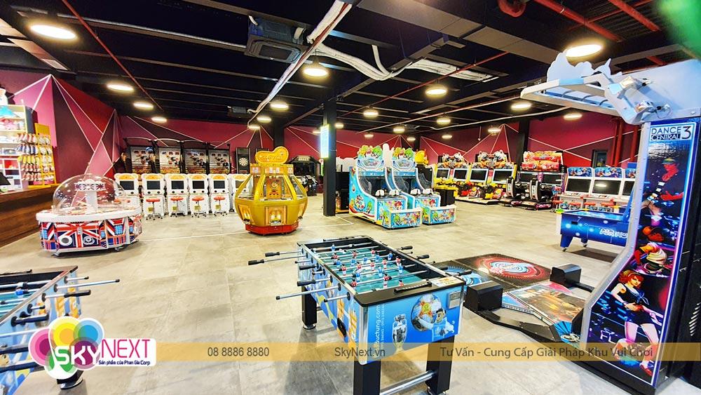 Góc Game Center khu vận động Trampoline C'Game Huế