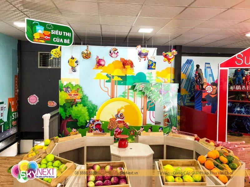 Khu siêu thị trong khu vui chơi cafe Tom & Jerry House