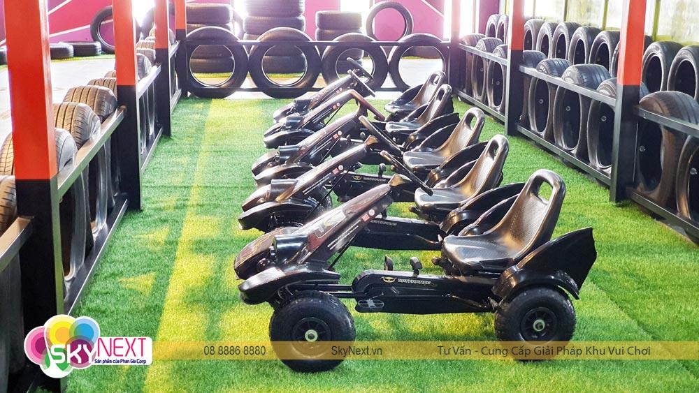 Xe đua khu vận động Trampoline C'Game Huế