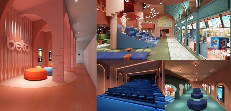 Concept ấn tượng của rạp phim Beta Cinimas Quang Trung