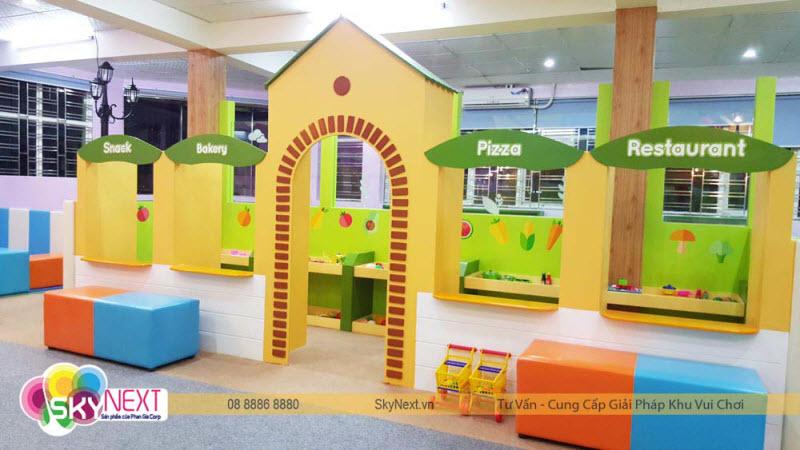 khu vui chơi trẻ em kết hợp nhà hàng