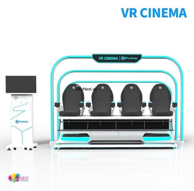 Phòng chiếu phim cảm ứng kính VR 4 người thực tế ảo