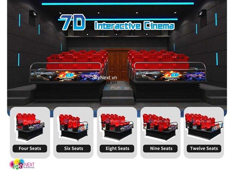 RẠP CHIẾU PHIM 5D-7D VR tương tác với người chơi