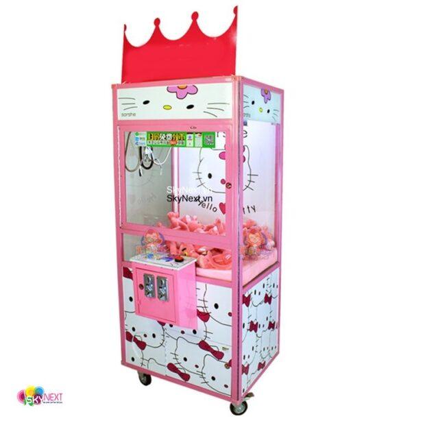 Máy game gắp thú nhồi bông Hello Kitty
