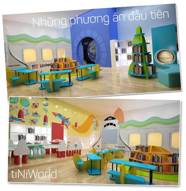 Bản Concept Thiết kế khu vui chơi tiniworld đầu tiên được lựa chọn